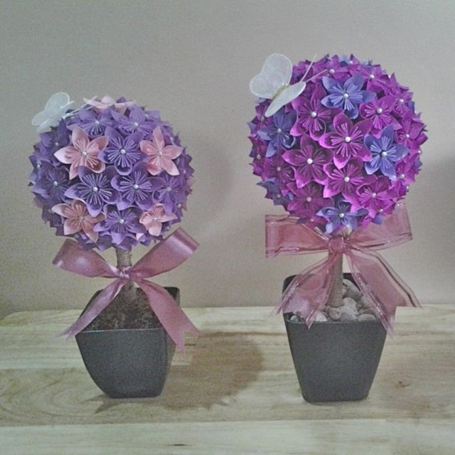 Makers market meet the makers jacqueline patubo of eclations these paper flower topiary bouquets would make lovely centerpieces mightylinksfo