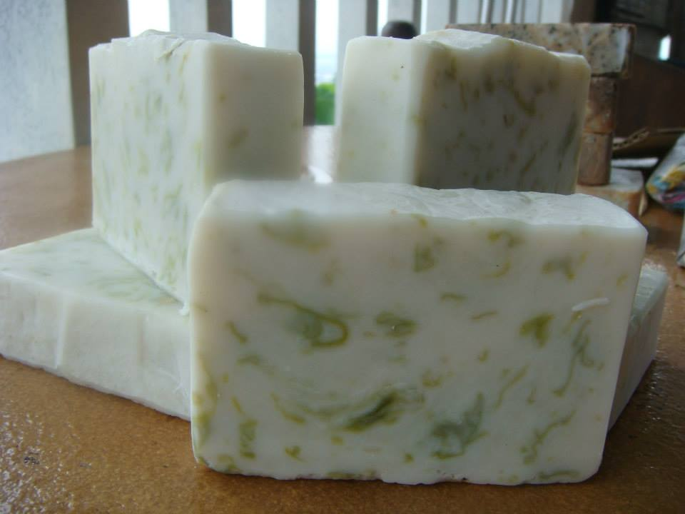 Lightly scented Seaweed Soap.  Seaweed, according to Kim, is packed with vitamins, minerals, trace elements and amino acids that are essential in maintaining healthy and youthful skin and body care.--Gotta watch out for this bar at the Maker's Market!