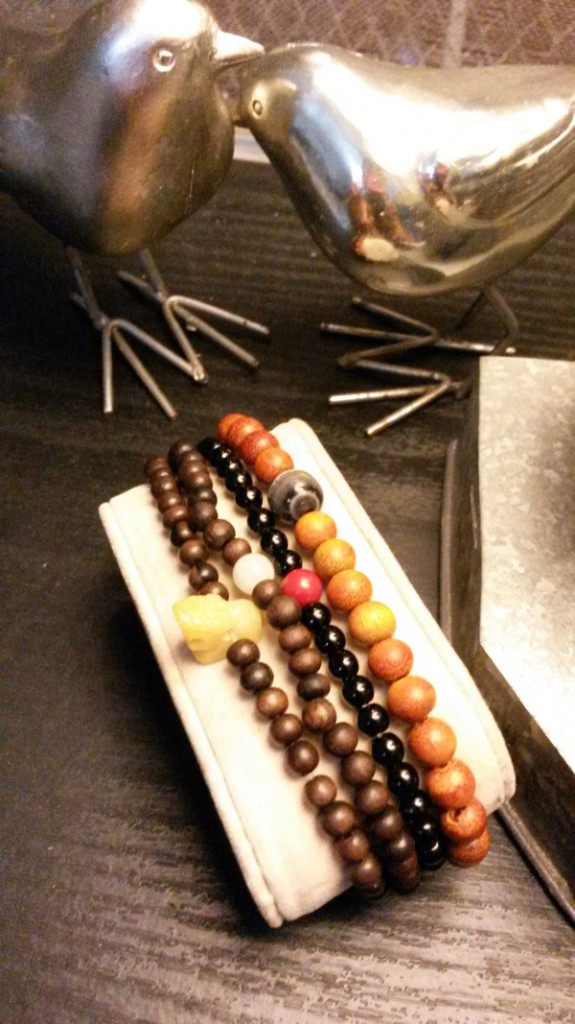 These bead bracelets look great as a gift set.