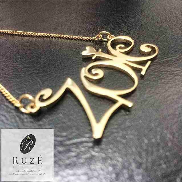 Pretty, personalized necklaces can also be ordered from Ruze.