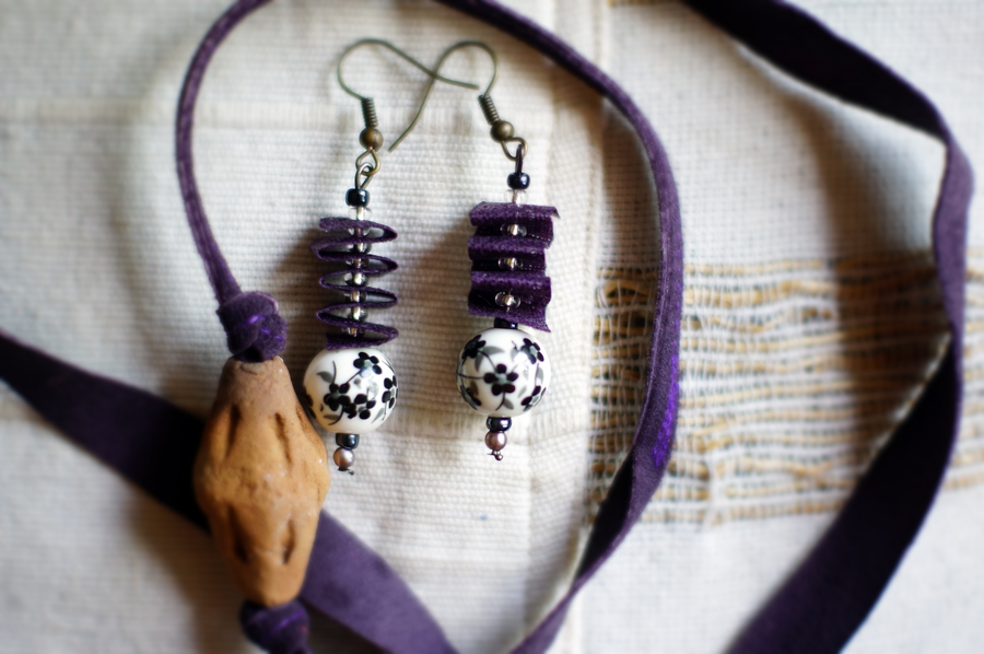 These handmade earrings look especially lovely.