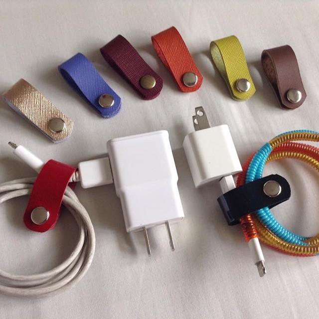 Fun and functional: leather cord organizers!
