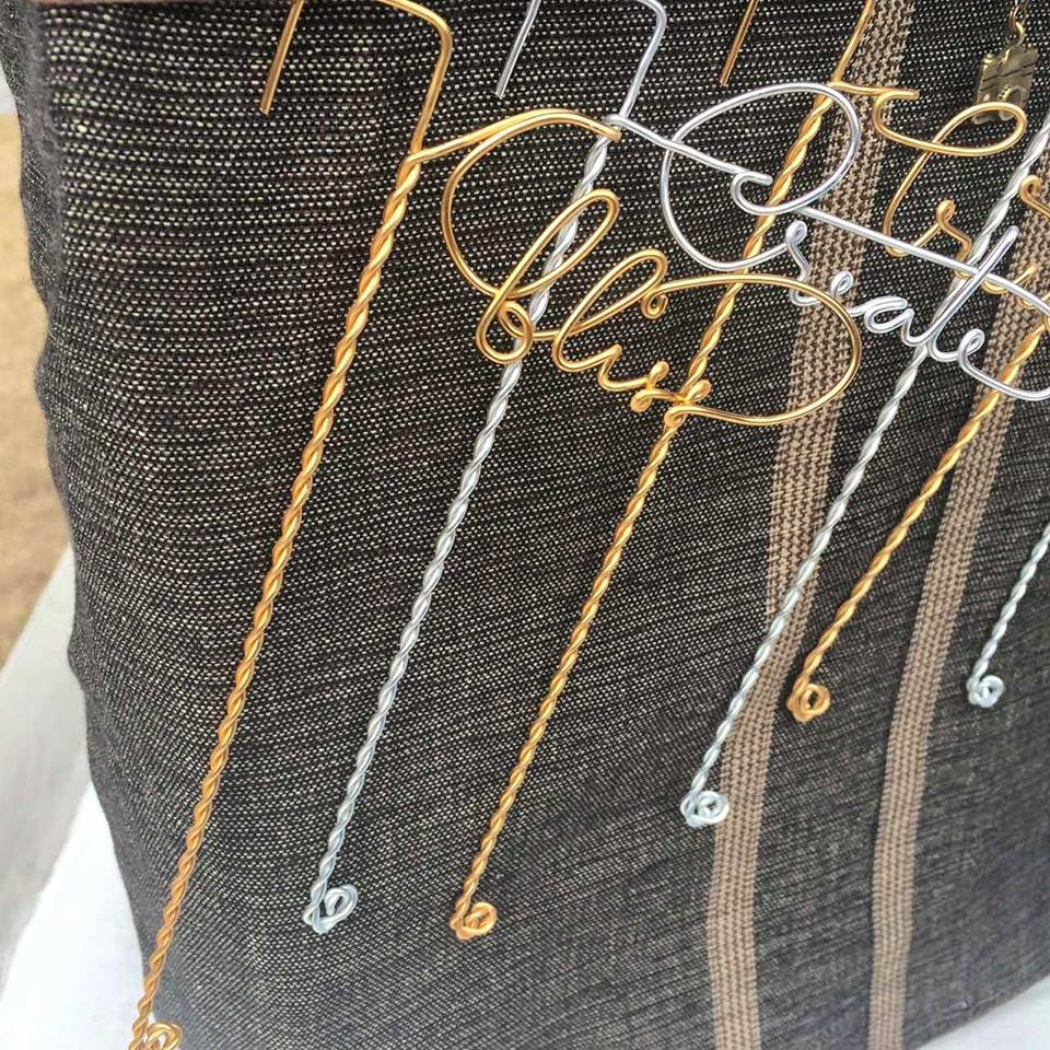 These personalized wire bookmarks make lovely and useful gifts!
