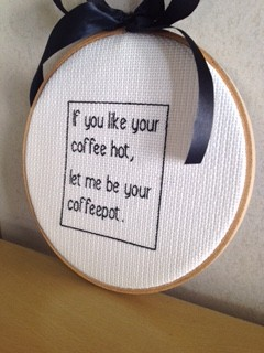 These witty hoop embroidery pieces make for fun, quirky gifts.