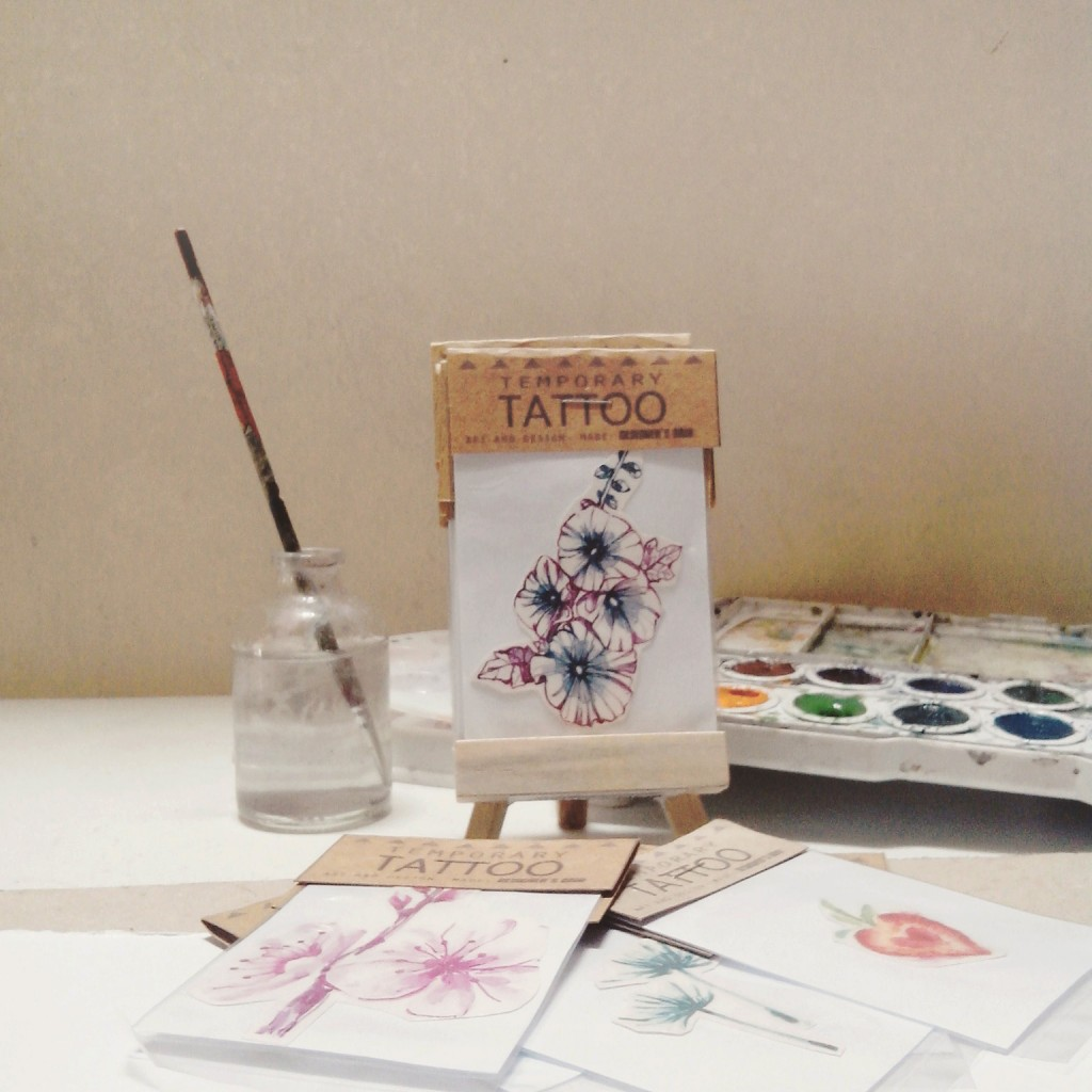 How pretty are those temporary tattoos?  Excited to see these up close!