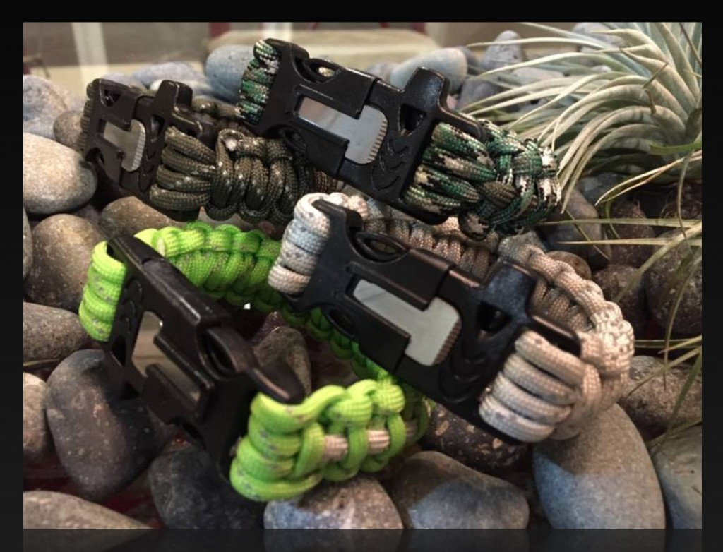 Yvonne's Firestarter Paracord Bracelets!  Being craft-y ain't just making pretty things!