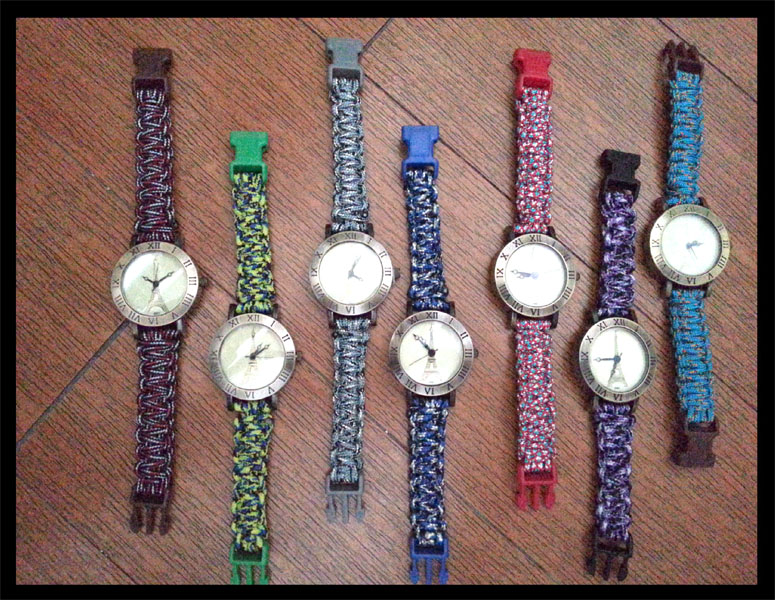 Paracord wristwatches!  Look out for these at the upcoming Maker's Market at Estancia!
