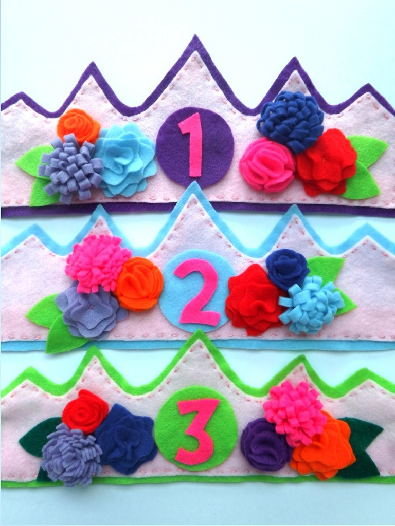 These felt crowns would amp up any little party for your princess!