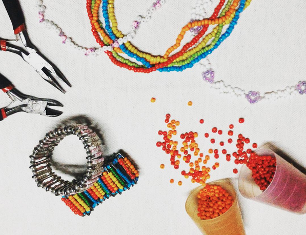 Com make beaded headbands with us this weekend!