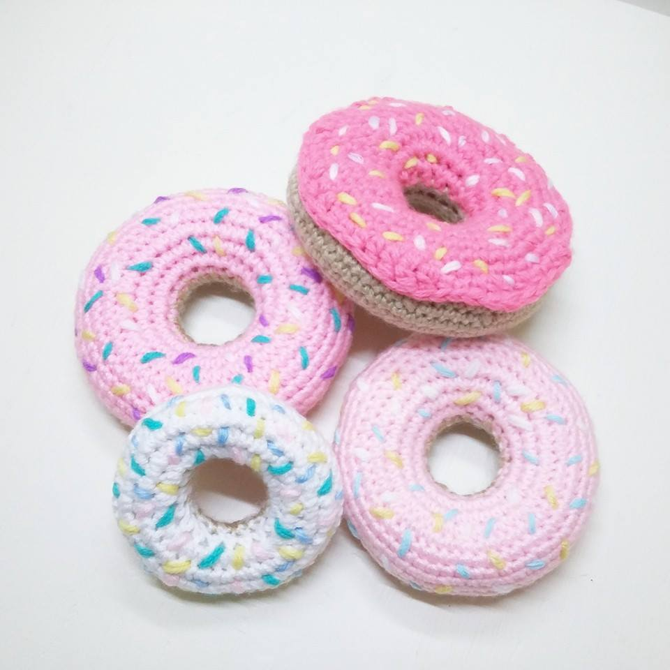 You can either learn the basics of crochet, or kick it up a notch and make these crocheted donuts!
