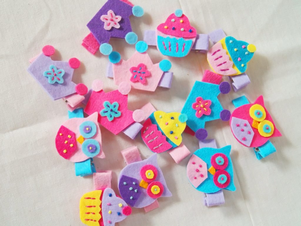 Scrumptious colors for these handcrafted felt knickknacks!